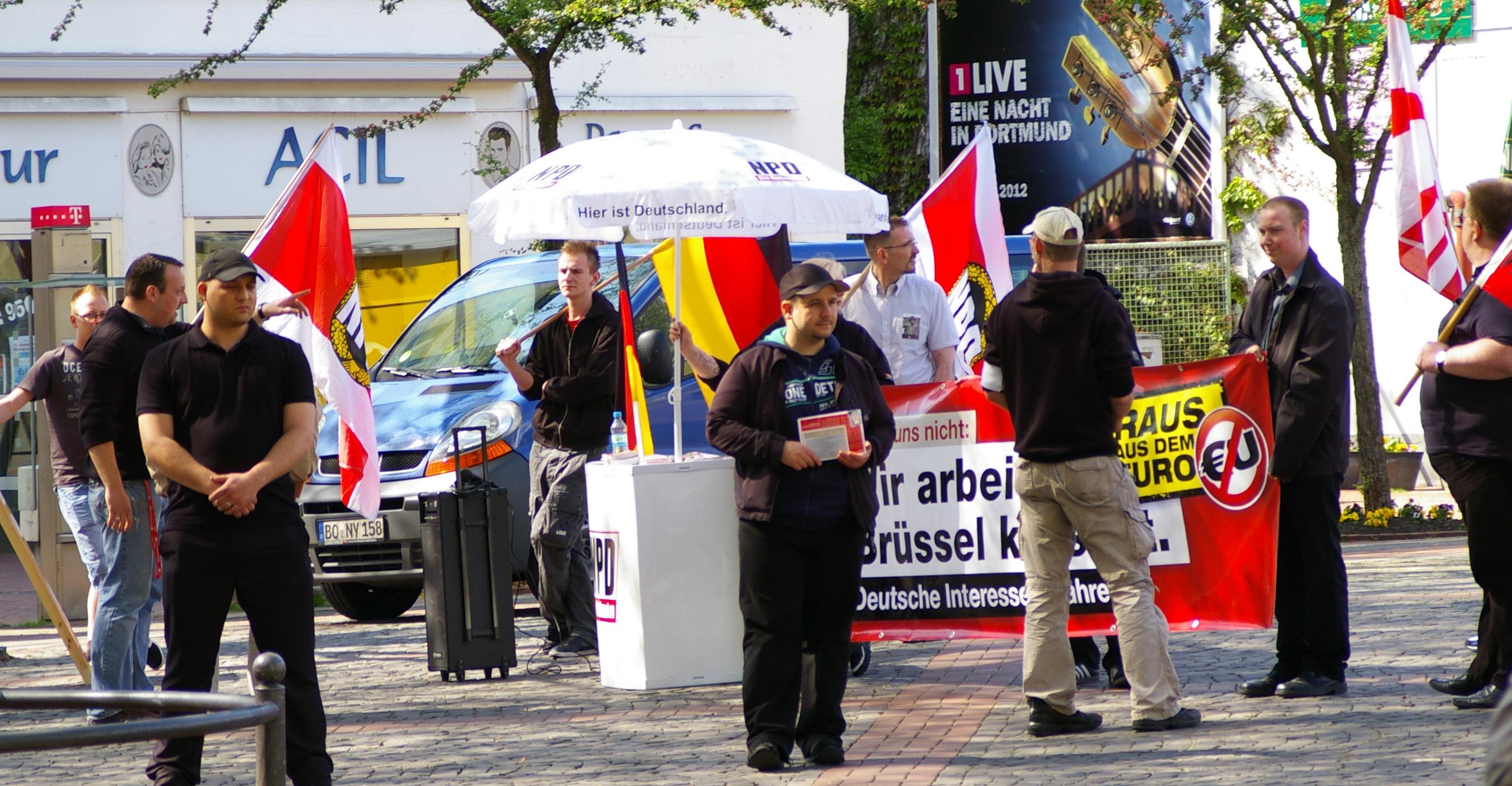 NPD-Stand in Dortmund-Hombruch
